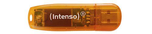 Intenso Rainbow Line 64 GB USB Stick USB 2.0 orange ab 6€ (statt 9€)