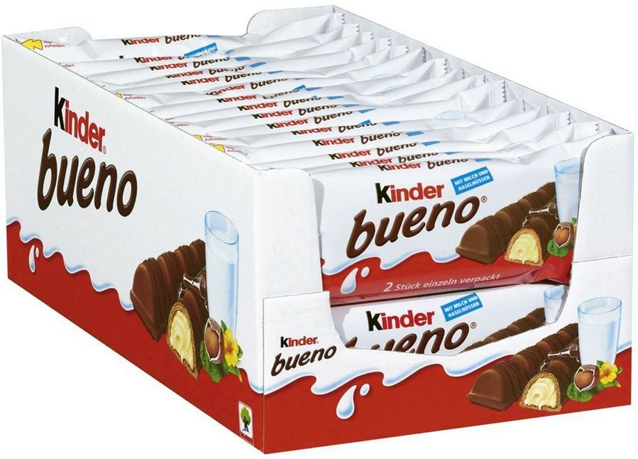 Kinder Bueno 2er Riegel in einem 30er Pack ab 11,18€