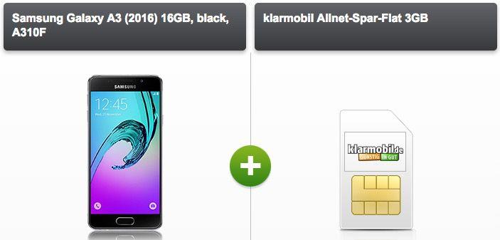 klarmobil Allnet Spar Flat Vodafone Allnet Flat 3GB + Smartphone ab 20,72€ mtl. + ggf. gratis Zubehör Paket