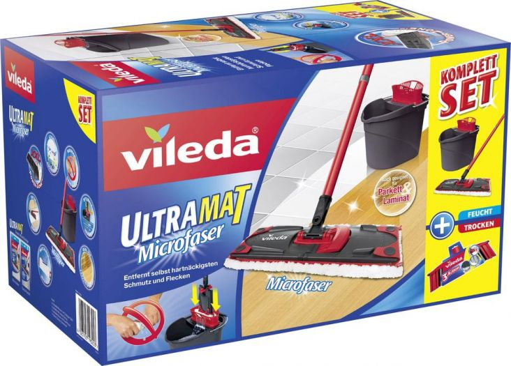 pri 1 x525 Vileda Ultramat Komplett Set + 3Action Besenkopf + 1kg Saure Glühwürmchen von Trolli für 29,99€ (statt 49€)