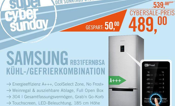 Samsung RB31FERNBSA Kühl /Gefrierkomb. A+++ 185cm NoFrost für 489€