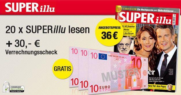 superillu 20 Ausgaben der SUPERillu für 6€ dank 30€ Bargeldprämie