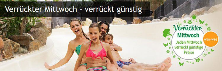 Center Parcs Verrückter Mittwoch z.B. Comfort Haus für 4 im Park Allgäu 4 Tage ab 449€ (statt 899€)