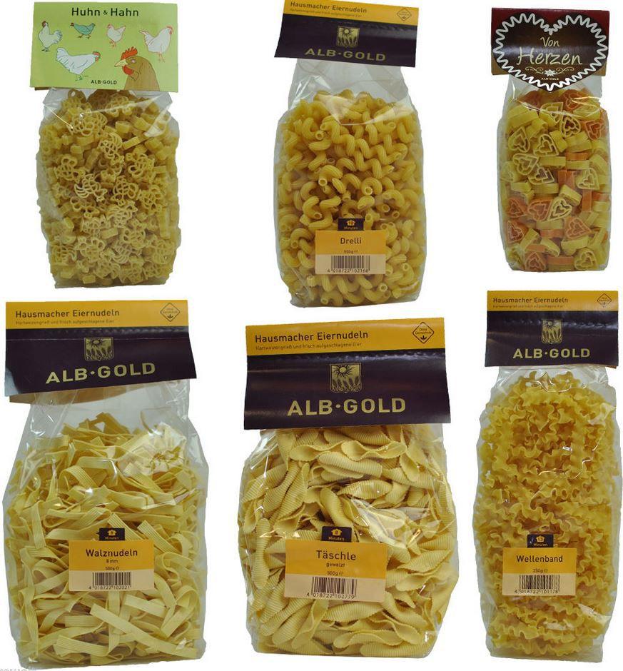 Alb Gold   2,5 Kg hausmacher Eiernudelpaket für 19,95€