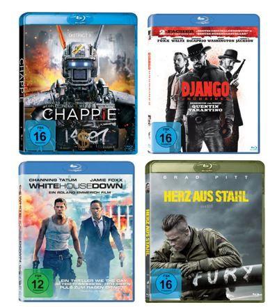 Action Filme zum Knallerpreis   z.B. Fury – Herz aus Stahl ab 4,97€