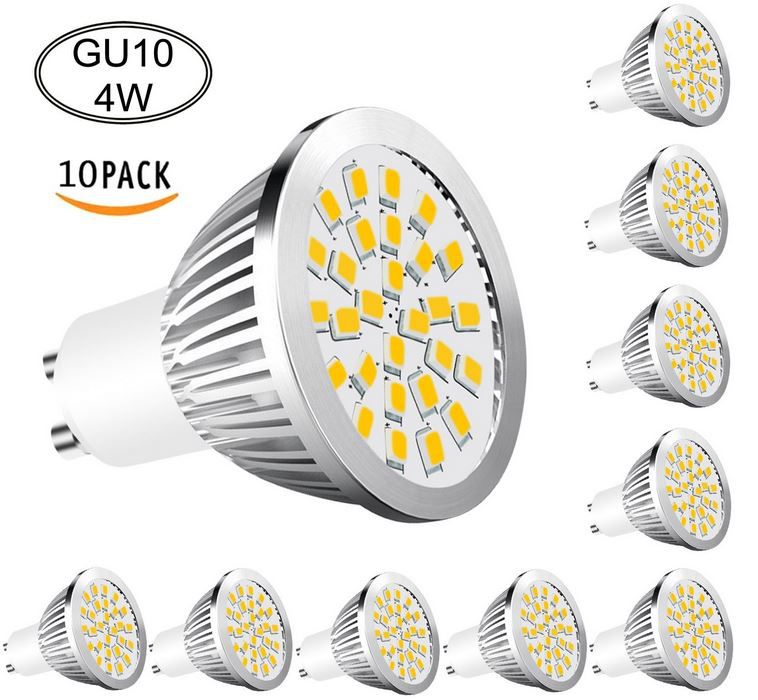 Aptoyu 4W GU10 Aptoyu 4W LED Strahler mit GU10 im 10er Set statt 30€ nur 19,99€