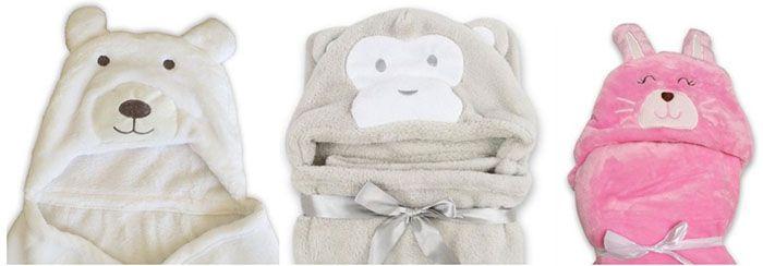 Babydecken Babydecke mit Tiermotiv und Kapuze ab 9,90€ (statt 20€)