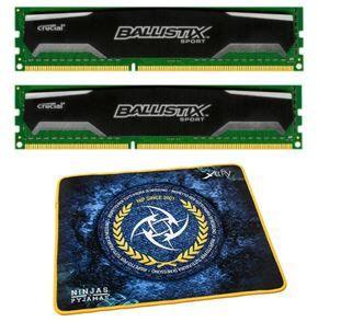Crucial Ballistix Sport   2 x 8GB Arbeitsspeicher + NiP Mousepad für nur 49,90€