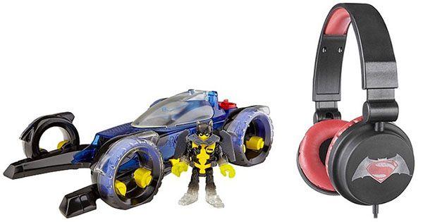 Batman Batmobil Mattel Batman Batmobil + Kopfhörer für 25,92€ (statt 50€)   genau lesen!