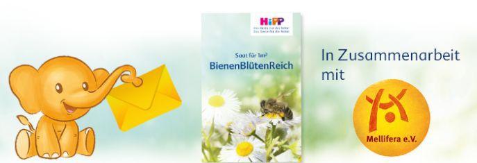 BienenBlütenReich Banner Gratis Bio Blumensamen BienenBlütenReich verschenken