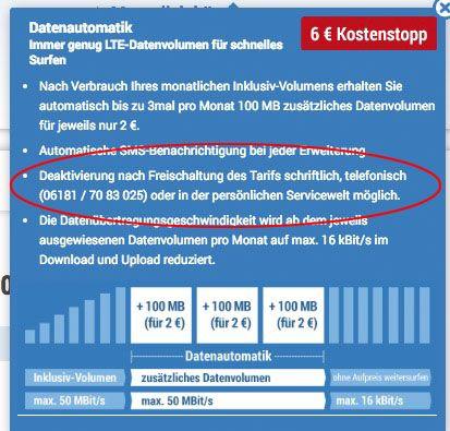 o2 LTE Tarife mit bis zu 10GB + Allnet Flat + deaktivierbarer Datenautomatik ab 6,49€ mtl.