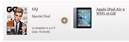 Bildschirmfoto 2016 05 09 um 12.53.31 iPad Air 2 16GB Wifi + 12x GQ für 359€ (statt 444€)