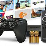 Amazon Fire TV Gamers Bundle + 32GB Speicherkarte + 1.000 Coins für 114,99€(statt 140€)