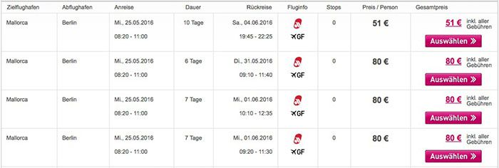 Bildschirmfoto 2016 05 24 um 15.32.16 Mallorca Flüge ab 51€ inkl. Gepäck & Gebühren   Super Lastminute!