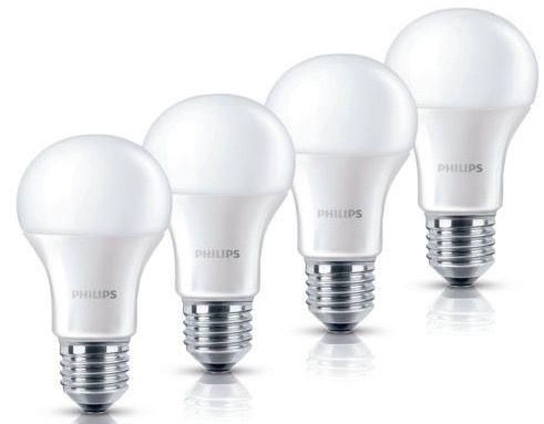 Philips LED Glühlampen im  4erPack mit 9Watt (60Watt) für nur 17,95€