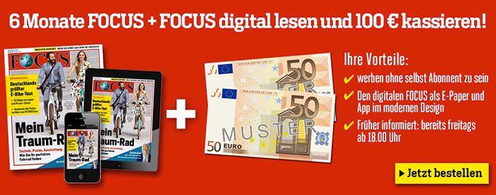 Bildschirmfoto 2016 10 20 um 12.59.24 TOP! Focus Halbjahresabo mit 26 Ausgaben + Focus Digital für 11,80€ (statt 111,80€)