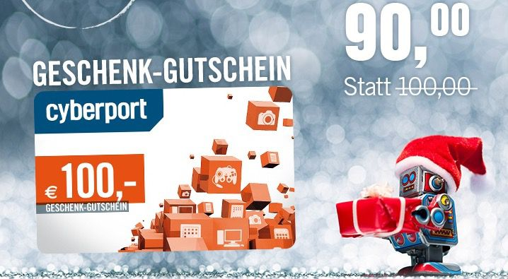 100€ Cyberport Gutschein für 90€   Geschenkidee?