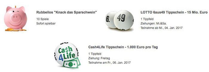 Bildschirmfoto 2017 01 03 um 13.39.05 1 Lotto Tipp (25 Mio. Jackpot) + 10 Rubbellose + 1 Tipp Cash4Life für 0,99€ (statt 6,85€)