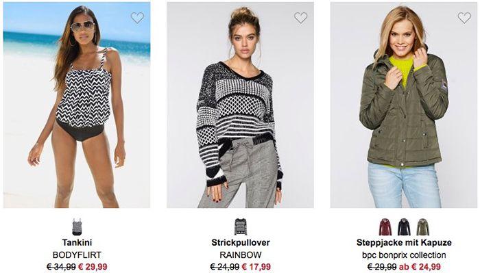 Bonprix Sale + VSK frei für Neukunden   z.B. Kinder Schneejacke nur 17€