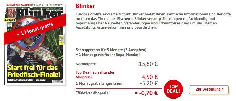 Blinker mini Abo Blinker mini Abo   4 Monate statt 20,80€ nur 0,70€
