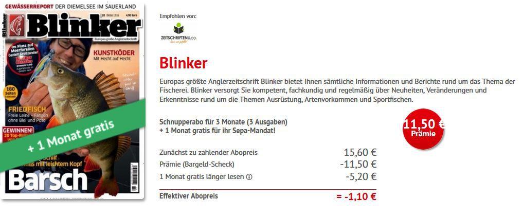 Blinki Blinker mini Abo   4 Monate statt 20,80€ nur 1,10€
