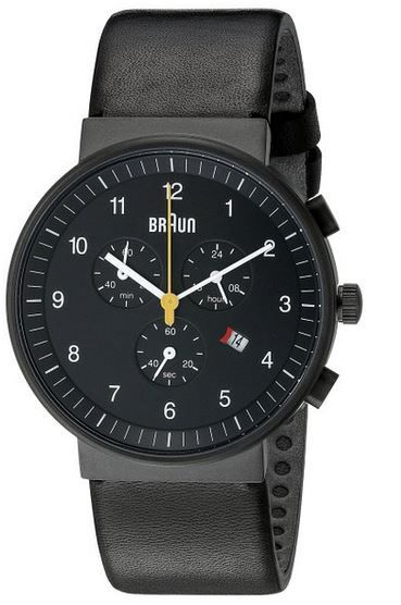 Braun Chronograph Braun BN0035BKBKG   klassische Herren Armbanduhr XL für 164,06€
