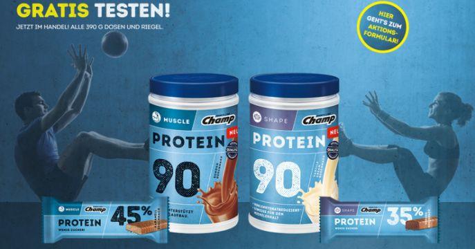 Champ Gzg Banner Champ Fitness Produkte im Wert von 15€ gratis testen dank Geld zurück Garantie