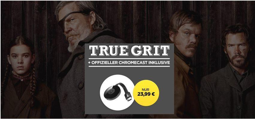 Google Chromecast 2 + True Grit für nur 23,99€