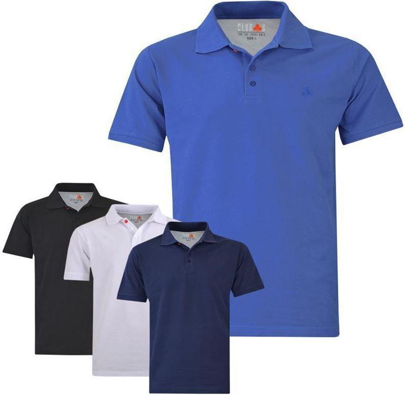 Clubs Poloshirts CLUB´s Herren Pique Poloshirt bis 3XL für je 12,95€