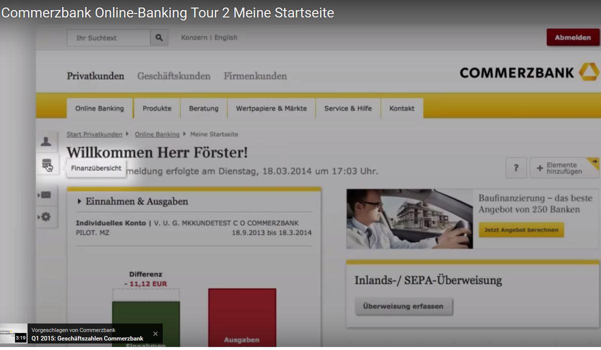 Commerzbanking Commerzbanking   Online Banking bei der Commerzbank
