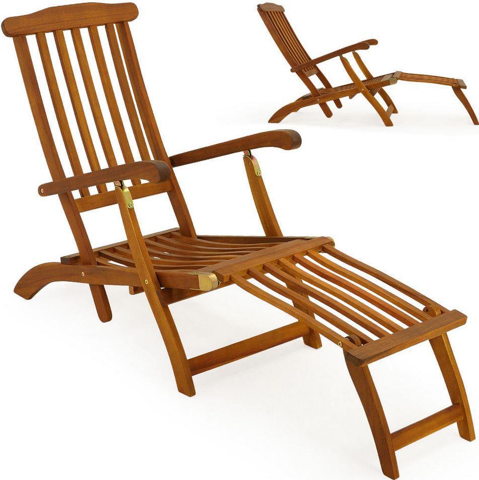 Deckchair Deuba Queen Mary   Deckchair aus Akazienholz für 49,95€