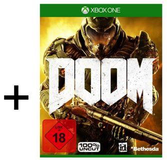 Doom XBox one Xbox One 1TB + Rainbow Six Siege + Rainbow Six Vegas 1 u. 2 + Doom statt 407€ für 320,99€