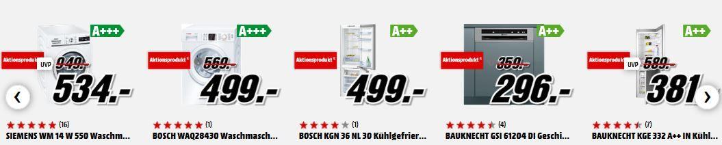 Media Markt Elektrogroßgeräte günstig mit optionalen Anschluss für nur 19€