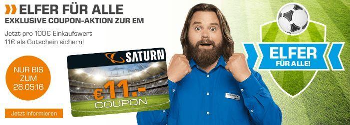 Saturn mit 11€ Rabatt Coupon ab je 100€ Einkauf! Top