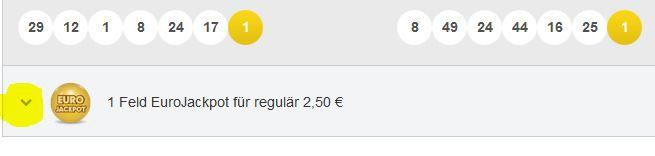Feld Lottopalace mit 6 Tipps 6aus49 + 1 Tipp Eurojackpot für Neukunden nur 2,50€ Top!