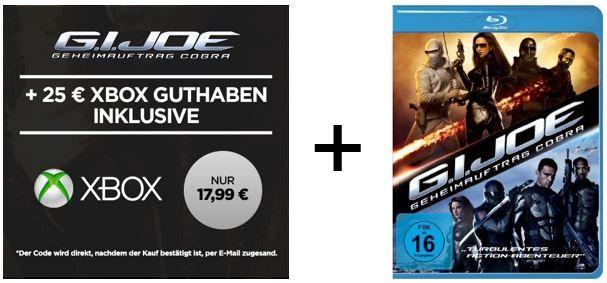 G.I. Joe 25€ Xbox Live Guthaben + G.I. Joe im SD stream für nur 17,99€