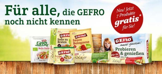 Gefro Banner Gratis Gefro Probierpaket (7 Produkte) für Neukunden