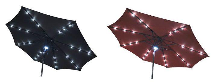 Greemotion Sonnenschirm Greemotion Sonnenschirm 300cm mit LED Solar Beleuchtung statt 80€ für 39,90€