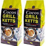 6kg ökologische Grillkohle-Briketts aus Kokosnussschalen für 10,95€
