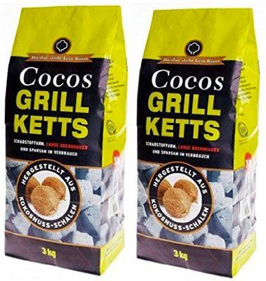Grillkohle Briketts 6kg ökologische Grillkohle Briketts aus Kokosnussschalen für 8,95€