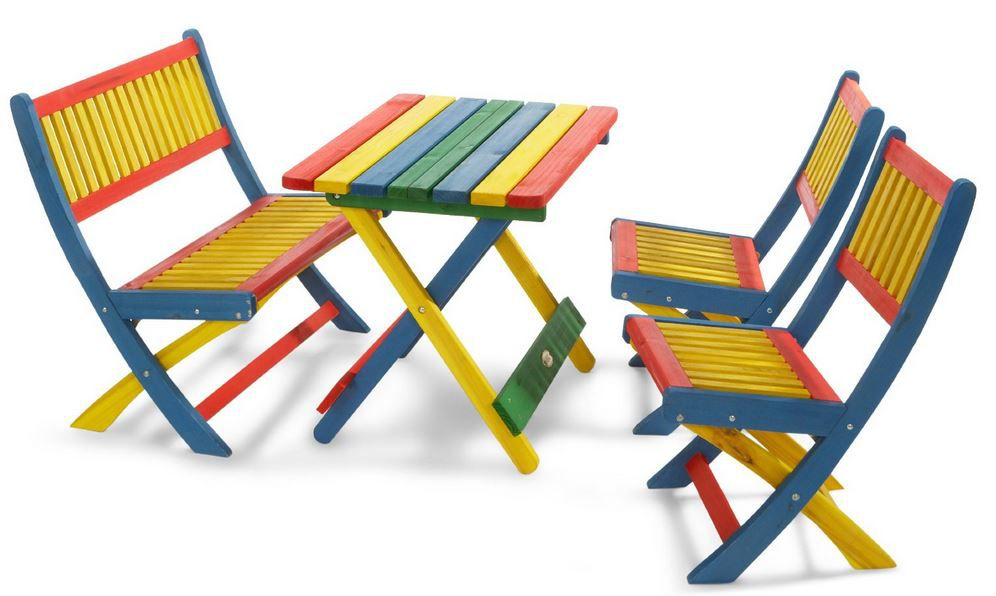 Habau Kinder Holz Sitz Garnitur mit Tisch statt 93€ für 39,99€