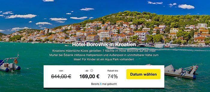 Knaller? 8 Tage Kroatien im sehr guten 3* Hotel + Halbpension ab 169€ p.P.