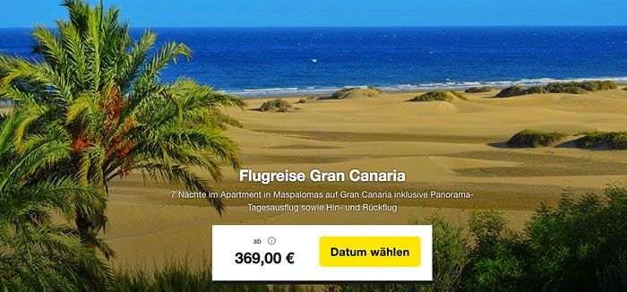 Hotel Club Vista Serena 8 Tage Gran Canaria im TOP 3* Hotel + Flüge ab 369€ p.P.