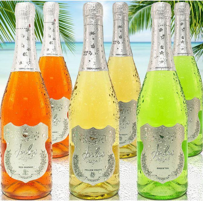 Jules Royal Jules Royal   6 Flaschen Cocktail Fruchtwein Sommergetränk für 14,95€