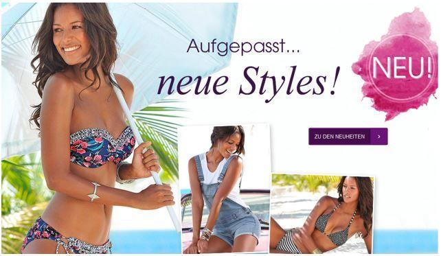Lascana Sale Lascana Sale bis zu 65% Rabatt + 10€ Gutschein + VSK frei ab 50€
