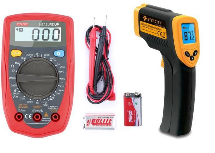 Laser Infrarot Thermometer Laser Infrarot Thermometer ab 14,99€ oder Digital Multimeter ab 13,79€ nur heute bei Amazon