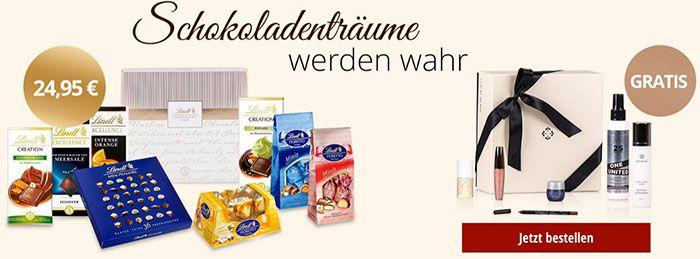 Lindt Chocolade Lindt Chocoladen Club Paket + gratis Beauty Paket für 28,90€ (Wert 150€?!)