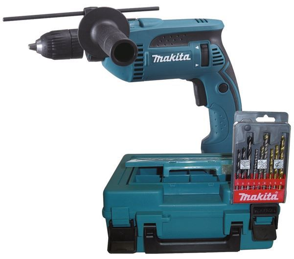 Makita HP1641K1X Schlagbohrmaschine im Koffer inkl. Bohrerkassette für 79,95€