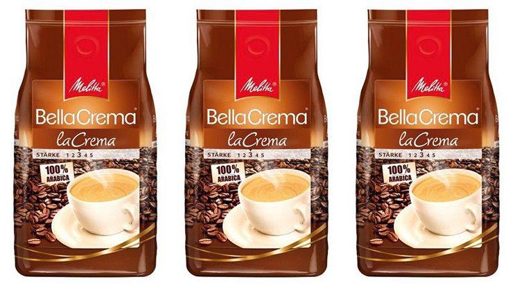 Melitta Bella Crema Bohne 10€ Sweet & Fine Gutschein   z.B. 3kg Melitta Bella Crema Bohnen für 28€ (statt 35€)