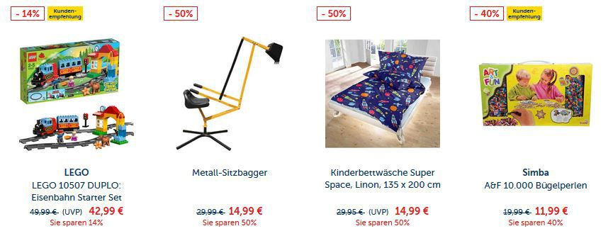 MyToys Rabatte MyToys heute mit 23% Rabatt auf alles auch im Sale ab 29€   günstig Lego etc.